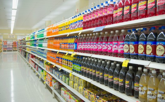 Soda Bottles in the Supermarket
