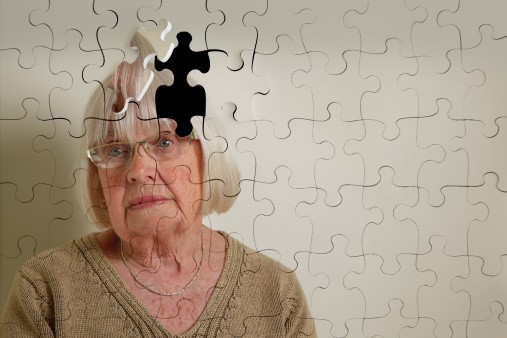 Older Woman suffering from dementia