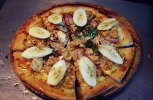 Wood fired gourmet pizza