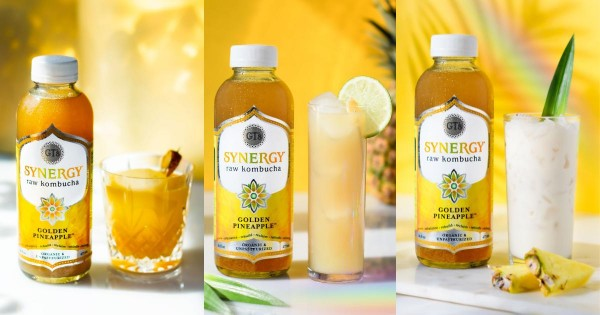 Food World News | GT's Living Foods - Golden Pineapple Kombucha