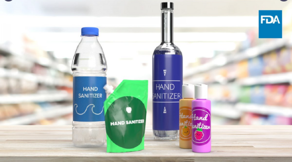 Hand Sanitizer Packed in Food and Drink Containers could be Deadly, FDA Warns