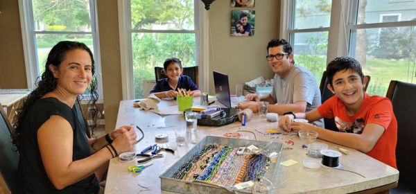 A Boy Makes Mask Aids To Help Jewish Family Services Food Pantry