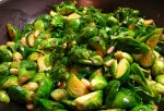 Braised Sprouts With Pine Nuts