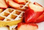 Belgian Waffle with Fresh Fruits