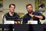 Henry Cavill and Ben Affleck during the 'Batman v Superman: Dawn of Justice' panel at SDCC