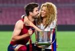 Gerard Pique of FC Barcelona and Shakira