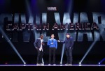 Actors Anthony Mackie, Chris Evans and Producer Kevin Feige of CAPTAIN AMERICA: CIVIL WAR took part today in 'Worlds, Galaxies, and Universes: Live Action at The Walt Disney Studios' presentation at Disney's D23 EXPO 2015 in Anaheim, Calif.
