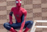 Spiderman attends 'The Amazing Spider-Man 2' Be Amazing Day Volunteer Day at I.S. 145 Joseph Pulitzer on April 25, 2014 in the Queens borough of New York City.
