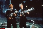 1997 J (Will Smith) and K (Tommy Lee Jones) take aim at an alien in the sci-fi action comedy, 'Men I