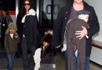 Brad and Angelina With Kids