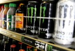 Cans of Monster Energy Drink