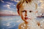 Puzzle showing a boy