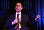 Jeremy Hunt Speaks At The Britain Against Cancer Conference