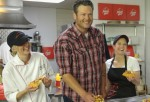 Blake Shelton: On set With Pizza Hut To Launch New BBQ Pizzas