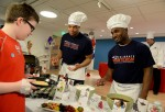 New England Patriots Celebrate National Pancake Day At Boston Children's Hospital