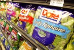 Dole Pre-Packaged salad sits on the shelf at a Bell Market grocery store June 19, 2003 in San Francisco, California. Packaged salad which was near non-existent a decade ago has become the second fastest selling item on grocery shelves behind bottle water,