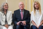 Sen. Jon Tester, Gwyneth Paltrow, Blythe Danner And Just Label It Hold News Conference To Discuss Opposition to H.R.1599