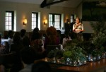 First Lady Michelle Obama hosts Farm-To-Table lunch for First Ladies from various countries at Blue Hill restaurant after touring the Stone Barns Center for Food and Agriculture on Sept. 24, 2010 in Pocantico Hills, Westchester County, New York.