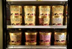 Blue Bell Ice Cream is seen on shelves of an Overland Park grocery store prior to being removed on April 21, 2015 in Overland Park, Kansas. Blue Bell Creameries recalled all products following a Listeria contamination.