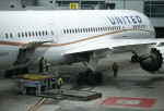 A United Airlines plane sits on the tarmac at San Francisco International Airport on June 10, 2015 in San Francisco, California.