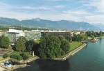 Nestlé Headquarters and Lake Geneva