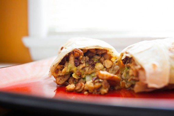 Mmm... breakfast burrito