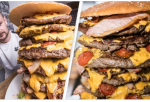 Restaurant Gives Free  30,000-Calorie Burger If You Could Eat It  In An Hour