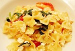 Farfalle with Feta Cheese and Grape Tomatoes