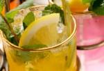 Lemon with fresh mints